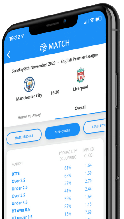 App image predictions page